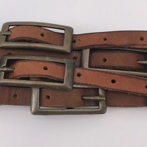 Accessories - 🍁WOMAN'S BOHO  BROWN LEATHER BELT W/STRAPS/BUCKS